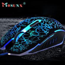 Ecosin2 Mosunx Professional Colorful Backlight 4000DPI Optical Wired Gaming Mouse Gamer 17mar24