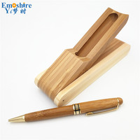 Creative Natural Bamboo Ballpoint Pen Roller Ball Pen Suit Boutique Environmental Protection Bamboo Pencil Case for Kids P052