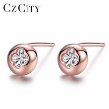 Czcity бренд розовое золото Цвет женские 925 стерлингового серебра