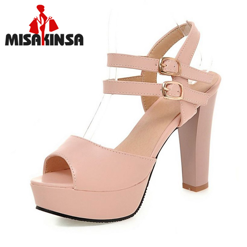 women stiletto ankle wrap thick high heel sandals classic style fashion ladies heeled footwear heels shoes size 32-45 PC00052