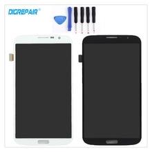 100% Nueva Negro/Blanco Para Samsung Galaxy i9205 i9200 6.3 Mega Pantalla LCD Pantalla Táctil Digitalizador Asamblea piezas de Repuesto + herramientas
