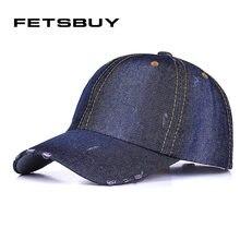 FETSBUY Cowboy Baseball Cap Lining Fall Denim Jeans Casual Sanpback Hats For Men And Women Hip Hop Wholesale