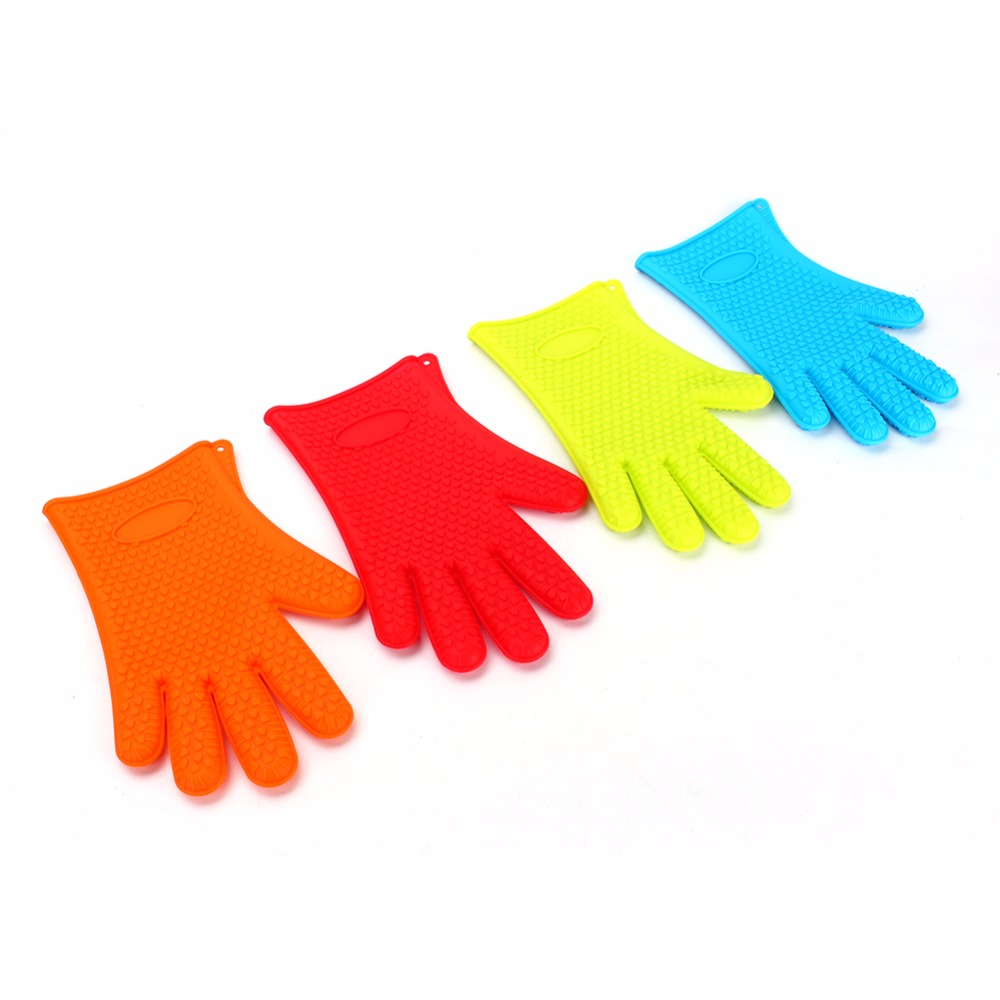 Home Kitchen Gloves Silicone Oven Heat Resistant Temperature In Mitts Sleeves From Garden On