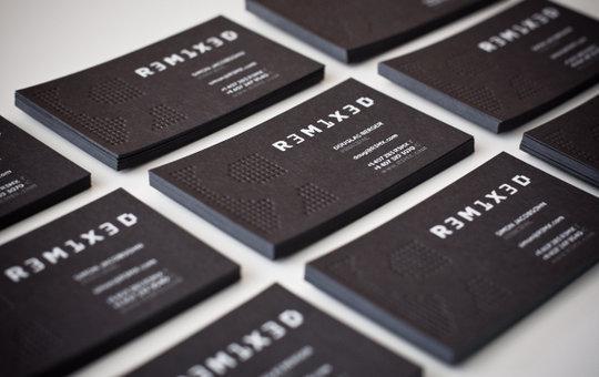 2016 Nouveau Design 600gsm Carte De Visite Personnalis Grav Typographie Impression En Ligne Mode Noir Papier