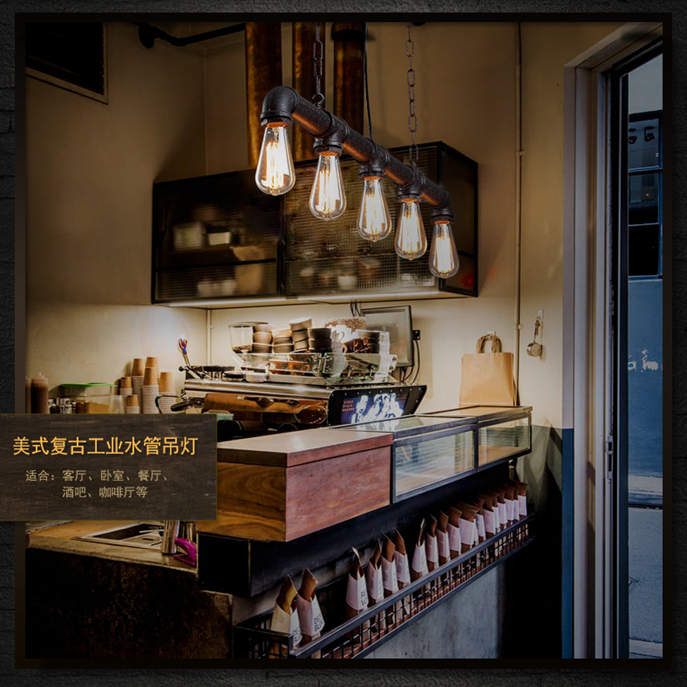 3/5 heads Edison vintage bar Lighting counter lamp,dinning room ...