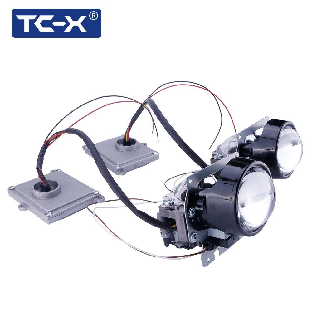 TC-X Car Styling 3 inch Bi LED Projector Lens H4 H7 LED Car headlight Bi LED Projector auto lense 3.0 35w 40w 6000k led projector lens headlight with ballast 35w 5500k 3 inch projector lens led car