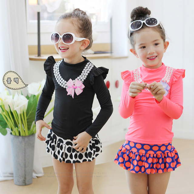 d080681570292 2016 summer new brand girl swimsuit sun protection girls swimwear Swimsuit  toddler girl Swimming Suit kids Bathing Clothes 2-8Y