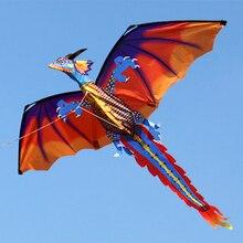 140cx120cm Классический 3D Дракон воздушный змей одиночная линия с хвостом с ручкой и линией хорошие летающие воздушные змеи из Hengda игрушки для детей и взрослых