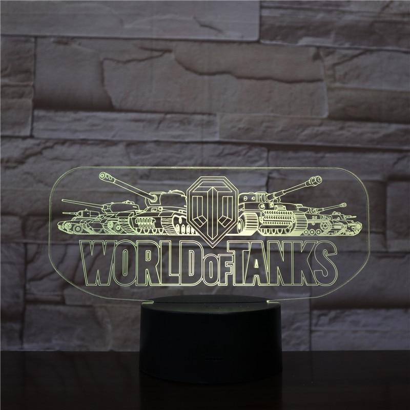 Table Lamp Bedroom Game World of Tanks Touch Sensor Decorative Lights Children Kids Festival Gift Night Light LED