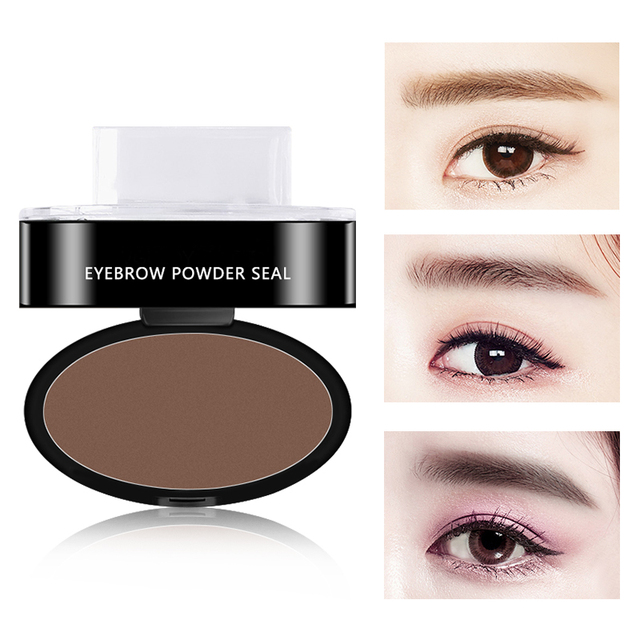 3 Colors Quick Makeup Eyebrow Powder Seal Waterproof Eyebrow Stamp Long lasting Eyebrow Shadow Set 3 Natural Shape Brow Stamp 3