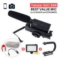 Takstar SGC 598 Photography Interview Shotgun MIC Microphone For Nikon Canon DSLR Camera DV Camcorder For