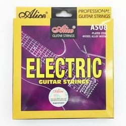 Алиса электрогитары строки 009 010 дюймов покрытием никель сплава ран Струны для гитары A508-SL/A508-L