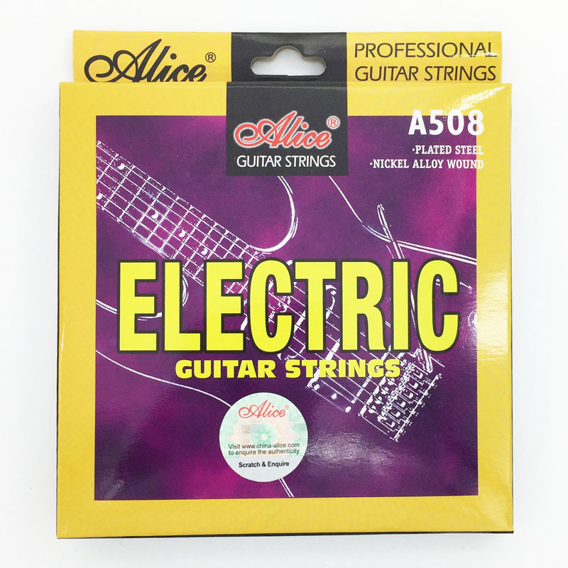Alice Electric Guitar Strings 009 010 inch Plated Nickel Alloy Wound A508-SL / A508-L danjue серый 19cm x 9cm x 2cm