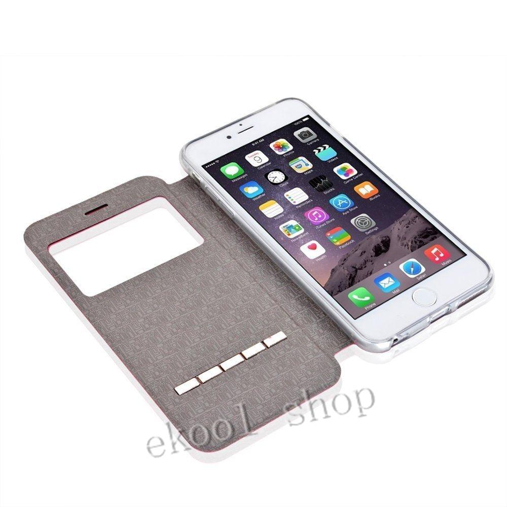 LRuiize For iphone X 10 Smart Front Window View Flip stativ PU - Reservdelar och tillbehör för mobiltelefoner - Foto 3