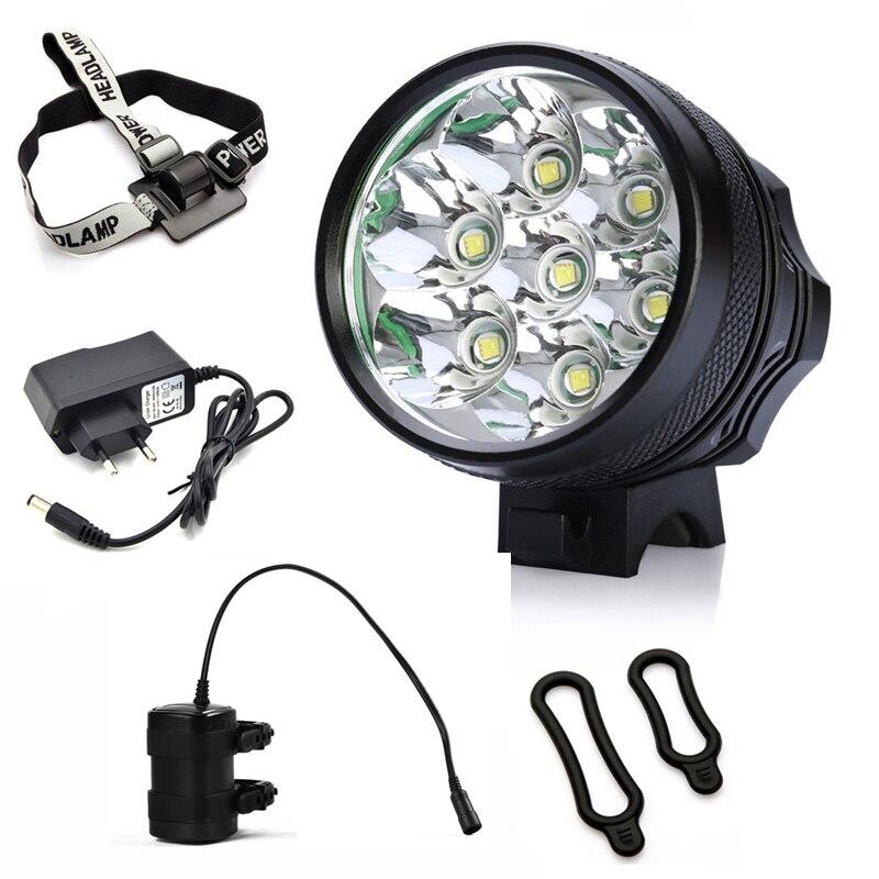 8000LM CREE XM-L T6 LED USB Fahrrad Scheinwerfer Wasserdichte Lampe Neu