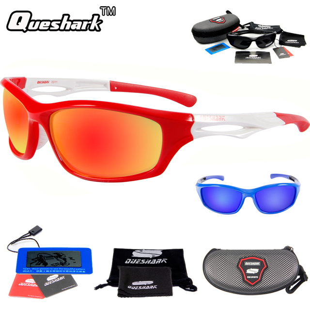 Hommes et femmes polarisant lunettes de soleil sports de plein air lunettes anti-UV escalade de la pêche et des lunettes d'équitation , red black