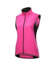 Womens Cycling Vest Bike Windbreaker Raincoat Waterproof Windproof Breathable pink purple color