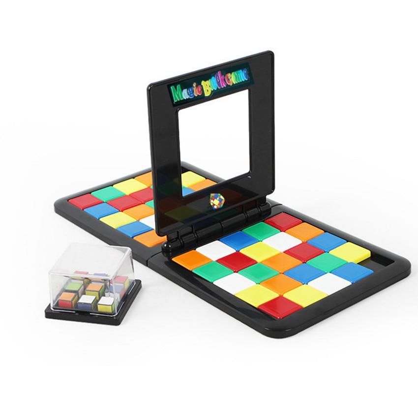 1Pcs Kids Color Battle Race Game Cube Parent-child Interaction Cube Funny Desktop Game Puzzle Educational Toys