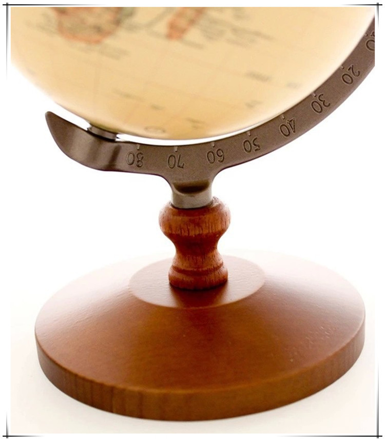 aliexpresscom buy pedestal english edition wooden decorative world globe vintage globe geography terrestrial globe figurines for home from reliable craft - Decorative Globe