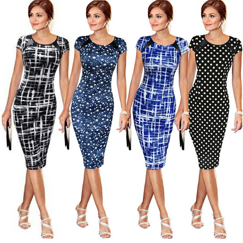 Sought-After New Women Bandage Bodycon Short Sleeve Party Midi Dress short dresses office wear