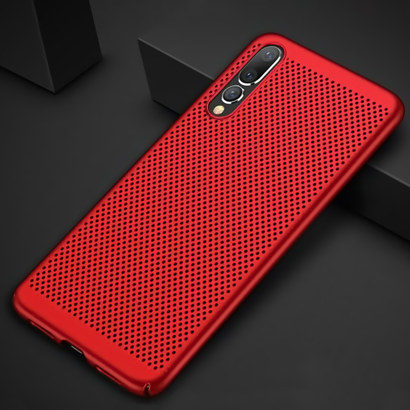 Cyato Heat Dissipation Phone Case For huawei p20 lite pro Hard Back PC Ultra-thin Cases Hollow Breathe Matte shockproof Cover