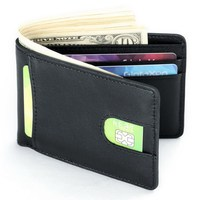 Gibo Auja Rfid Blocking Oil Wax Genuine Leather Vintage Wallet Clutch Men Wallets Card Holder Organizer