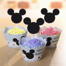 Minnie wrapper decoration cupcake toppers wrapper birthday party cake decorating supplies mickey cake topper wrappers