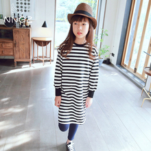 NNGZ kids Girls Clothing tshirt stripe long sleeve Tee Children's Clothing spring Top for Kids Sweatshirt contrast stripe knot tee