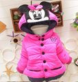 2016 children outerwear baby girls cotton Hooded coats Winter Jacket Kids Coat children's winter clothing Girls Down & Parkas