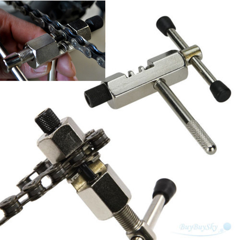 Bike Steel Chain Breaker Splitter Cutter Repair Tool Silver for Outdoor Cycling Bicycle MTB Mountain Bike Road Bike M20