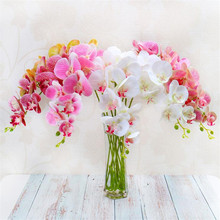 5pcs PU Butterfly Orchids 3D Printing Real Touch Phalaenopsis Moth Orchid Flower for Wedding Party Decorative Artificial Flowers