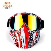 Vendite calde Modulare Maschera Staccabile Occhiali E la Bocca Filtro Perfetto per Aprire Viso Motociclo Casco Mezzo o Vintage Caschi