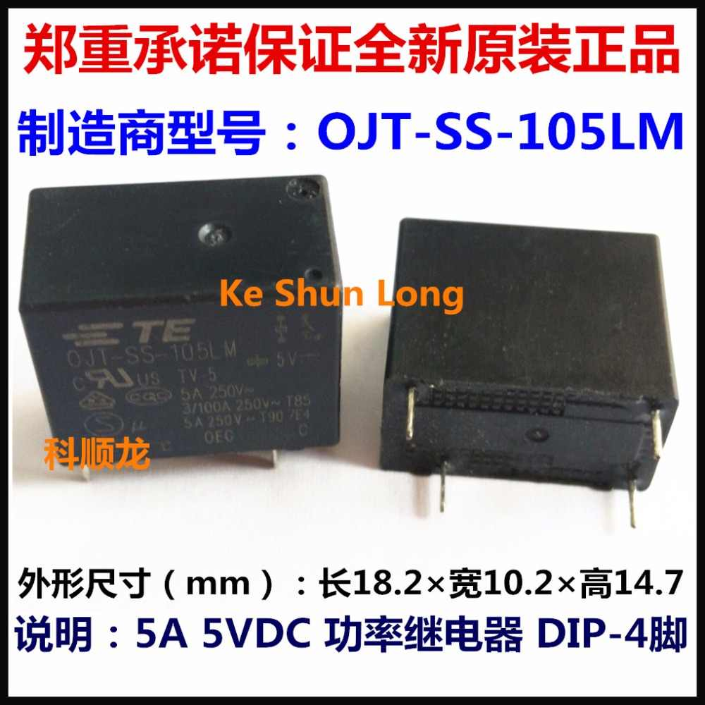 5A OJT-SS-105LM,000 SPST-NO TE CONNECTIVITY Relay 250VAC OEG