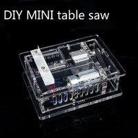 Diy Mini Saw Handmade Table Woodworking Saws Cutting Sawing Machine Model Acrylic Framework Table Saw