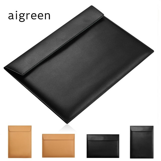 "2020 Newest Brand PU Leather Sleeve Case For MacBook AIR 13"",Retina 13.3"",15.4"",11"",Envelope Bag,Wholesales,Free Drop Shipping"