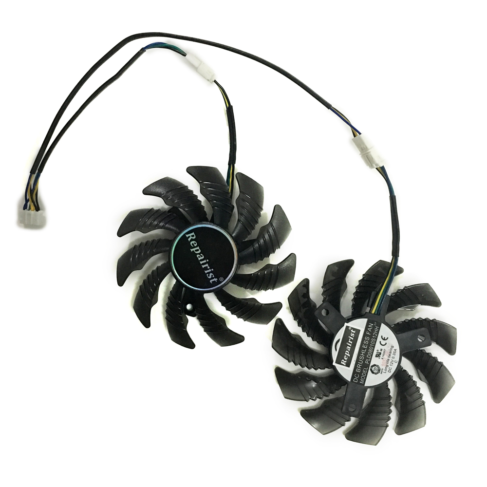 2pcs/lot RX550 RX560 GPU cooler Graphics cooling fan for REDEON GIGABYTE RX 560/550 Gaming OC Video Card cooling