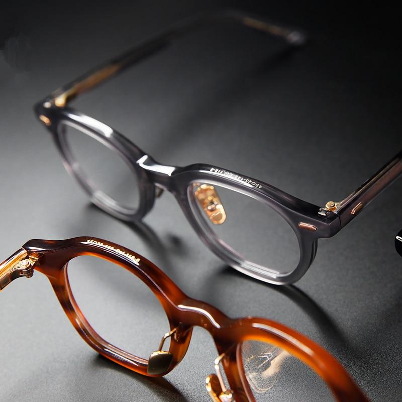 High Quality Acetate Leisure Business Style Glasses Men Retro Vintage Prescription Glasses Women Optical Spectacle Frame Polygon
