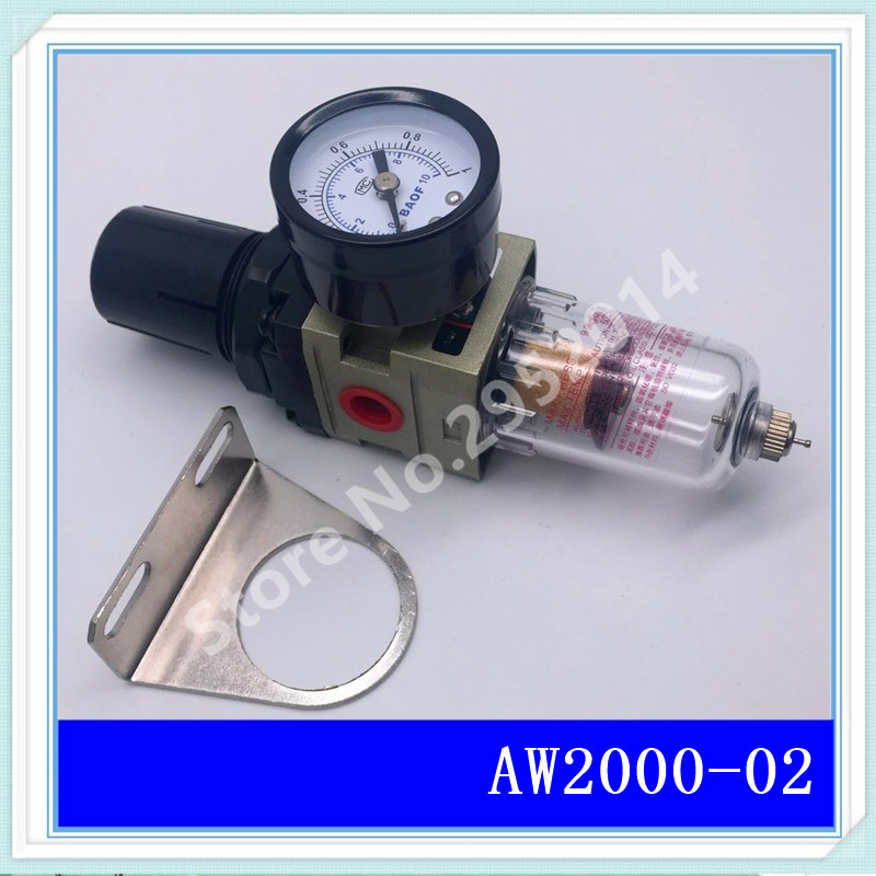 AW2000-02 G1/4 Pneumatic air compressor filter pressure reducing valve regulating valve