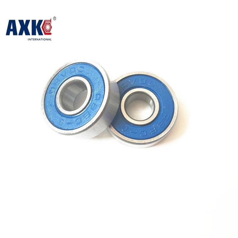 Free Shipping 4PCS  10x16x5 Blue Rubber Bearings  ABEC-3  MR1610 2RS/W5 коньки onlitop abec 5 35 38 blue 869370 защита