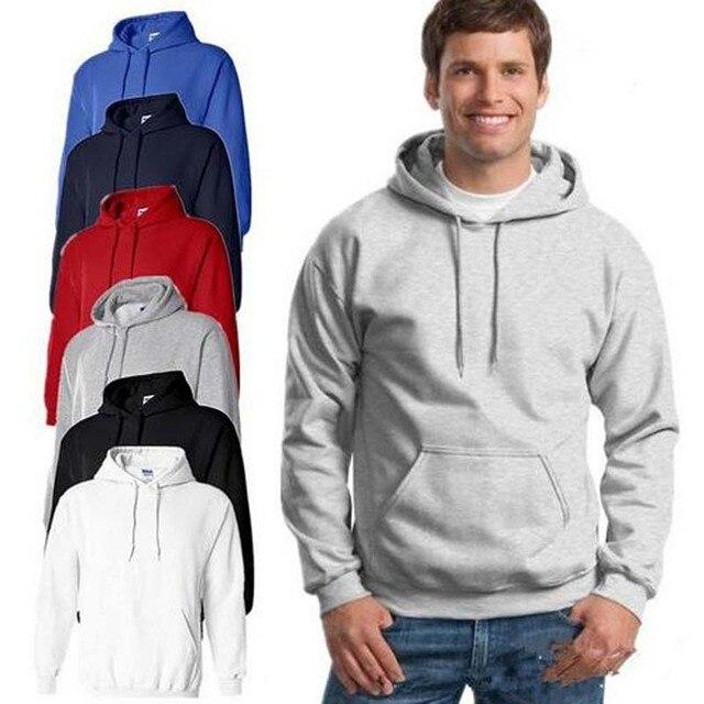 Новые модные с капюшоном флисовые свитшоты Европейский Мужчины комфорт для  отдыха флис Джокер 31b44c09df0e6