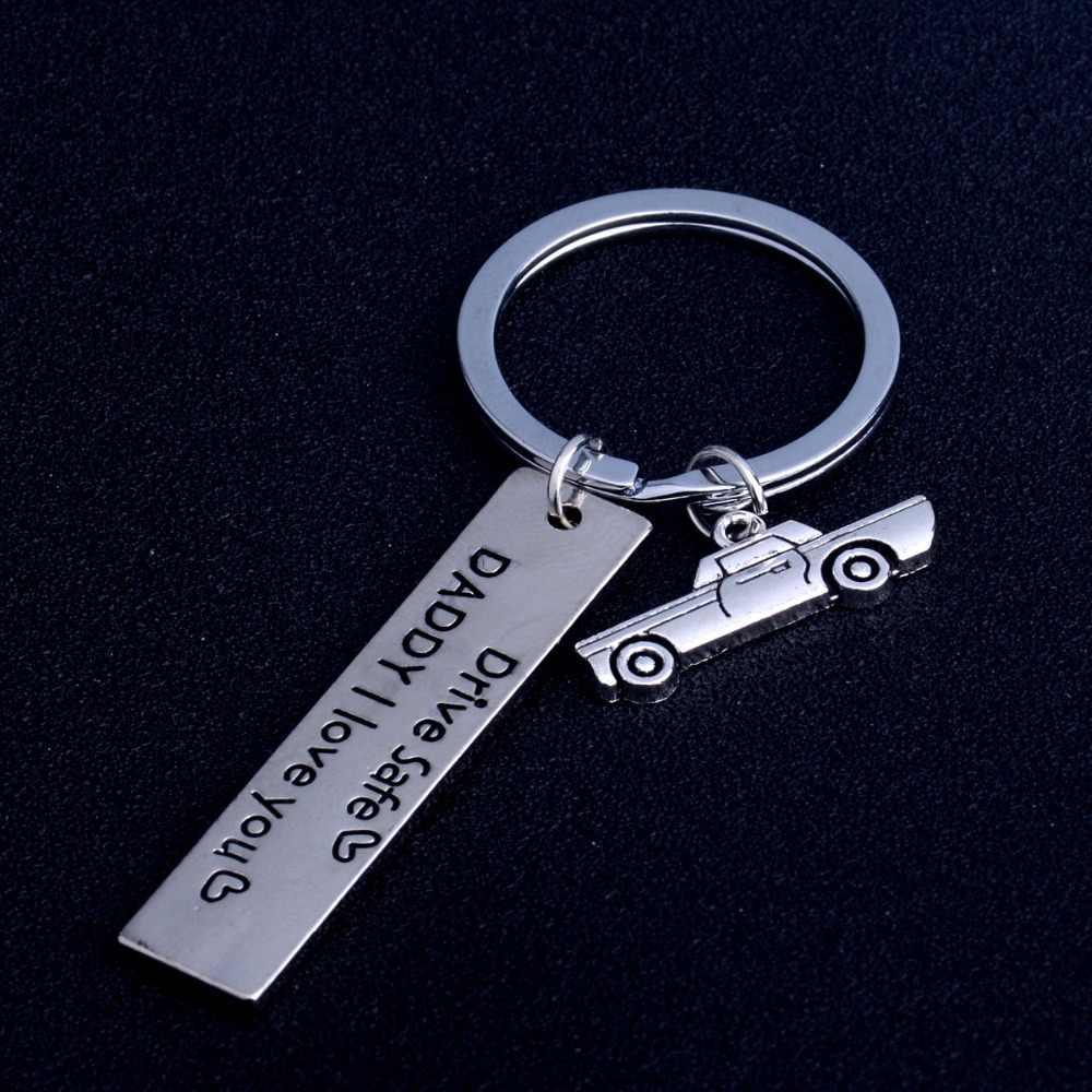טיפול הודעה מתנה כונן בטוח אני צריך אתה כאן סדרת קסם Keychain מפתח טבעת שרשרת אבא החבר אוהבי חבר רכב מפתח מחזיק