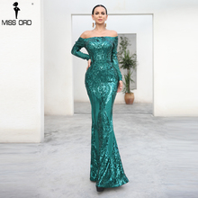 Missord 2018 Sexy bra Long sleeve retro party dress sequin maxi dress FT18392-1