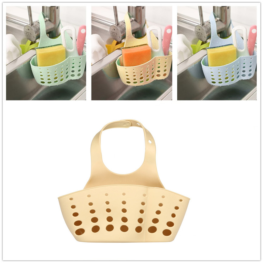 Kitchen Sink Sponge Holder Draining Rack Sink Kitchen Hanging Drain Storage Tools Storage Shelf Sink Holder Drain Basket 3