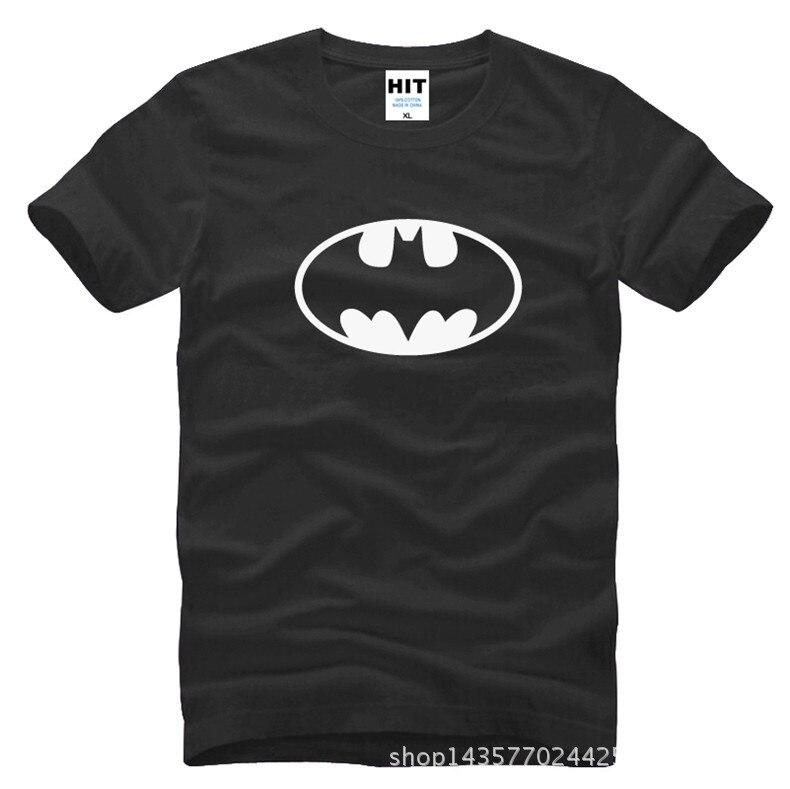Бэтмен классический логотип напечатаны мужские мужская футболка футболка мода 2015 новый короткий рукав хлопка тенниски Camisetas Masculina