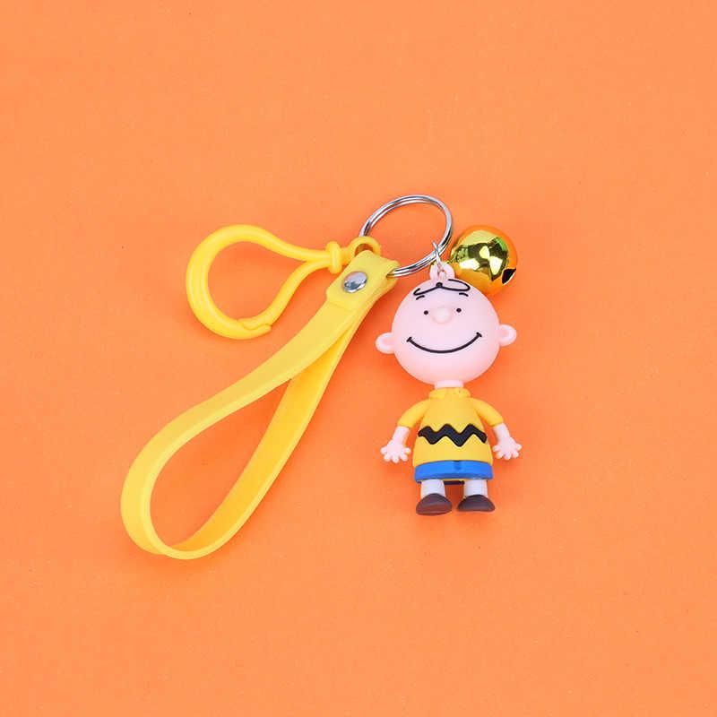 Alta Qualidade 2019 Nova Bonito Dos Desenhos Animados do Charlie Brown Keychain For Ladies Criativo Saco Encantos Acessórios Do Carro Anime Presentes da corrente Chave