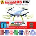 Syma x5hw 6-axis fpv rc quadcopter drone con cámara wifi 2.4g rc helicóptero quadrocopter toys vs syma x5c x5sw con 5 batería