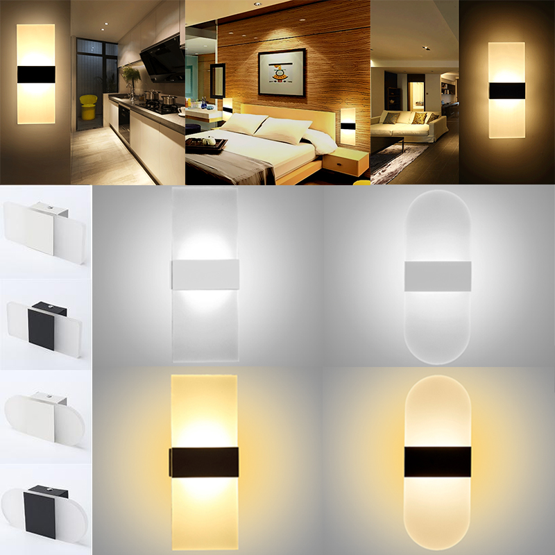 Solid Wall Lamp Led 3w Indoor Wall Light Aluminum Up Down: Modern LED Wall Light Up Down Cube Indoor Outdoor Sconce