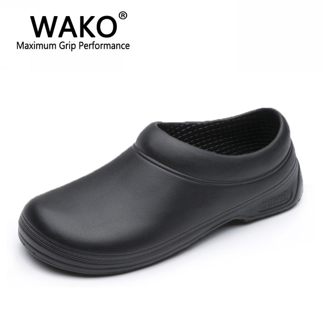 e0fc8f36e64 WAKO Men Chef Shoes Male Sandals for Kitchen Workers Super Anti-skid Man  Non Slip