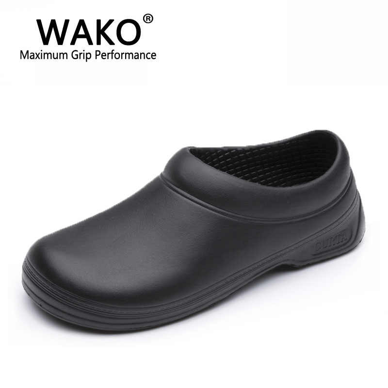 c72f4aa7a80 WAKO Men Chef Shoes Male Sandals for Kitchen Workers Super Anti-skid Man  Non Slip