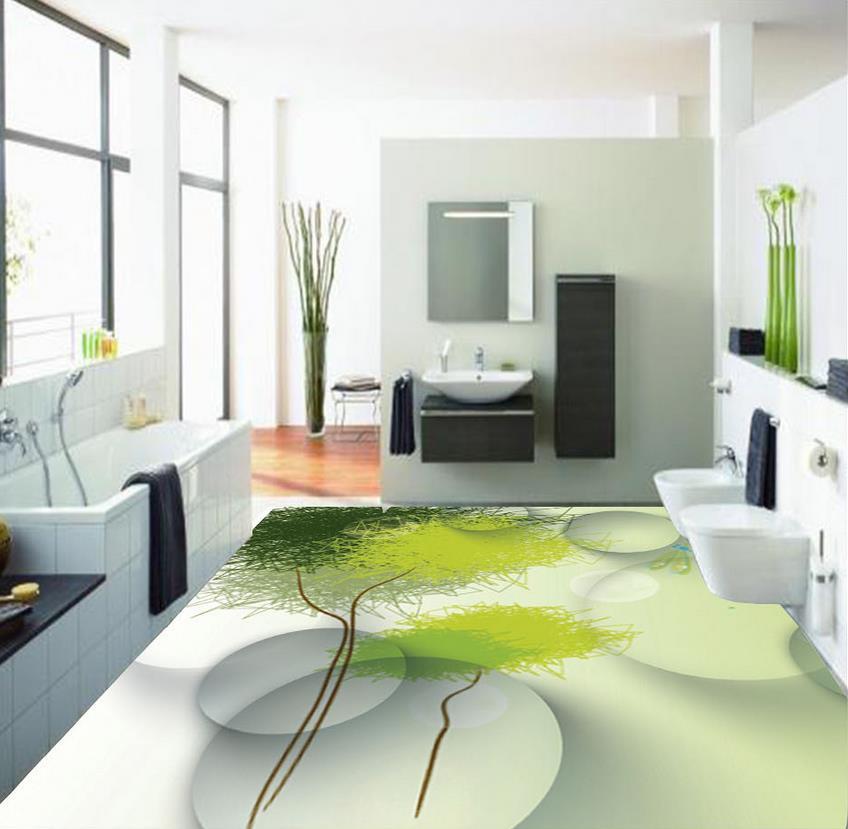 3d floor painting wallpaper abstract tree 3d floor - Waterproof floor paint for bathrooms ...